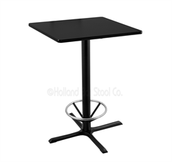 "(Shipping Included) Holland  36"" 211 Black Table /w 30"" x 30"" Square Top & Foot Ring 211-3036BW30SQFTRG"