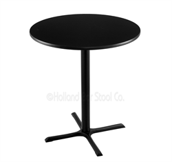 "(Shipping Included) Holland  36"" 211 Black Table /w 36"" Diameter Top 211-3036BW36R"