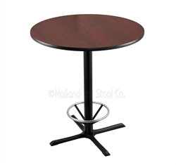 "(Shipping Included) Holland  36"" 211 Black Table /w 36"" Diameter Top & Foot Ring 211-3036BW36RFTRG"