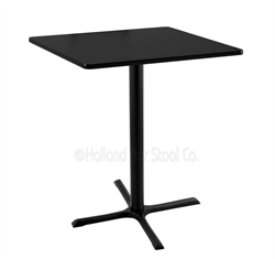 "(Shipping Included) Holland  36"" 211 Black Table /w 36"" x 36"" Square Top 211-3036BW36SQ"