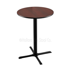 "(Shipping Included) Holland  42"" 211 Black Table /w 30"" Diameter Top 211-3042BW30R"