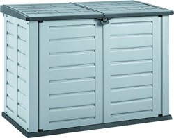Rimax Medium Garden Storage Shed in Gray/Black - Inval 10004