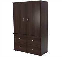 Inval America AM-13923 Armoire/ AV Video Combo in Espresso-Wengue