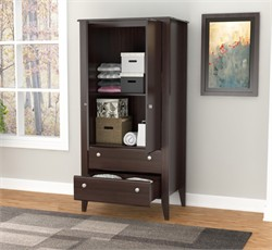 Inval America AM-17723 Two Door Two Drawer Wardrobe/Armoire in Espresso - Wengue