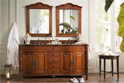 "Florentine 72"" Double Granite Top Vanity in Cherry - James Martin 206-001-5508"