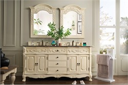 "Naples 72"" Double Granite Top Vanity in White - James Martin 206-001-5521"