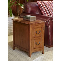Shaker Cabinet End Medium Oak - Leick Furniture 10030-MED