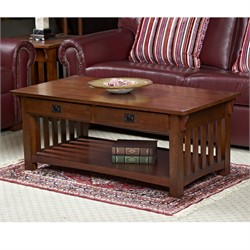 Mission Two Drawer Coffee Table - Leick Furniture 8204