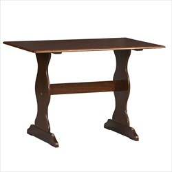 Chelsea Walnut Table ONLY - Linon 90368WAL-01-KD-U
