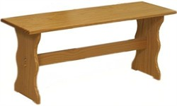 Chelsea Simple Bench in Natural Finish - Linon 90367N2-01-KD-U