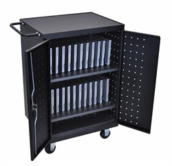 24 Laptop/Chrome Book Charging cart - Luxor LLTP24-B