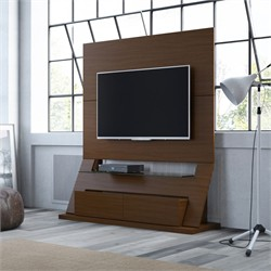 Manhattan Comfort 24751 - Intrepid Freestanding Theater Entertainment Center in Nut Brown