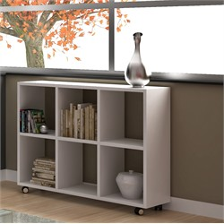 Accentuations by Manhattan Comfort 70AMC6 - Salvador 6- Shelf Bookcase in White