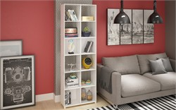 Accentuations By Manhattan Comfort 71AMC6 - 12-Shelf Natal 1.0 Bookcase in White