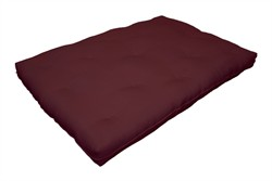 6-Inch Replacement Futon Pad, Full-Size, Burgundy - Milton Greens Stars FP6-BY