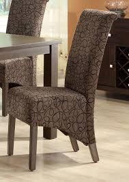 "Brown Swirl Fabric 40""H Parson Chair (Set of 2) - Monarch Specialty I-1788BR"