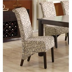 "Tan Swirl Fabric 40""H Parson Chair (Set of 2) - Monarch Specialty I-1789TN"