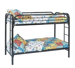Black Metal Twin / Twin Bunk Bed Only - Monarch Specialty I-2230K