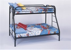Black Metal Twin / Full Bunk Bed Only - Monarch Specialty I-2231K
