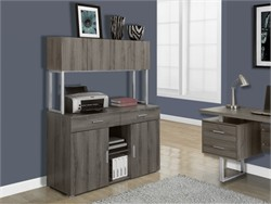 "Dark Taupe Reclaimed-Look 48""L Office Storage Credenza - Monarch Specialty I-7067"