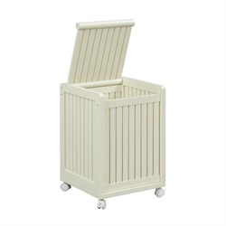 Abingdon Mobile Hamper w/ Lid in Linen Finish - New Ridge 2214-LIN