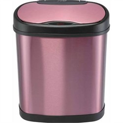 Nine Stars DZT-12-13P Purple 3.2 Gallon Touchless Trash Can