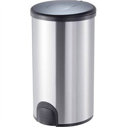 Nine Stars TTT-45-8 Stainless Steel 11.9 Gallon Toe Tap Trash Can