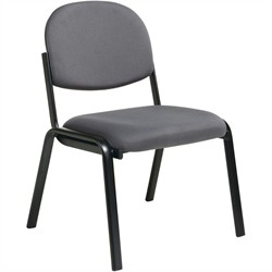 Office Star EX31 Visitor Chair, Designer Plastic Shell Back, Steel Frame and Legs Without Arms
