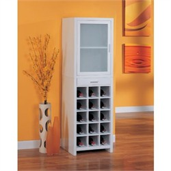 15 Section Wine Cabinet in White Finish Organize It All 39415
