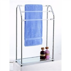 3 Bar Towel Rack with Shelf in Chrome Finish - Organize It All 62443