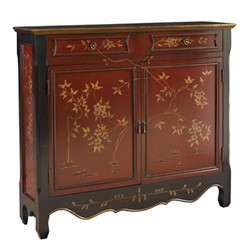 Red Oriental 2 Door Console - Powell 246-331