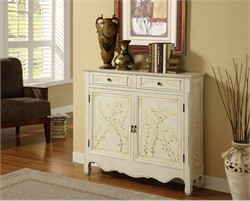 White Hand Painted 2 Door Console - Powell 246-332