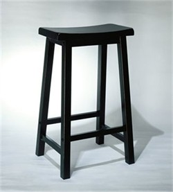 24 Inch Counter Stool in Antique Black Finish Powell 502-430