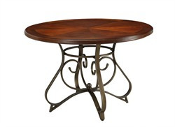 Hamilton Dining Table in Cherry with Metal Powell 697-413