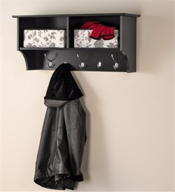 "Black 36"" Wide Hanging Entryway Shelf - Prepac BEC-3616"