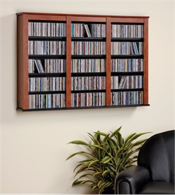 Black Triple Wall Mounted Storage - Prepac BFW-0523