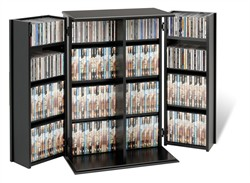 Black Locking Media Storage Cabinet - Prepac BVS-0136