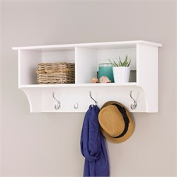 "White 36"" Wide Hanging Entryway Shelf - Prepac WEC-3616"