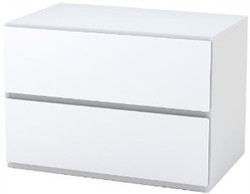 White Blvd Night Stand - 1 flip door, 1 drawer - Nexera 222203