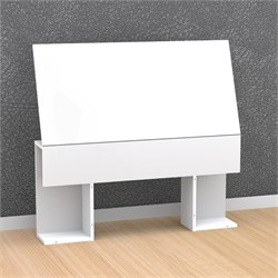 White Blvd Twin Size Headboard - Lateral storage - Nexera 223803