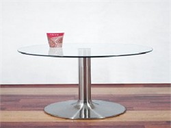 Coffee table in Glass and Aluminum Finish RTA CT-030