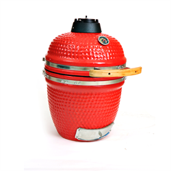 "18"" Ceramic Stand Alone Smoker Grill in Red - Kahuna KH-18RSA"