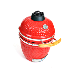"23.5"" Ceramic Stand Alone Smoker Grill in Red - Kahuna KH-23RSA"