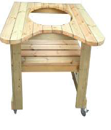 "Wooden Table for 23"" Kamado - Kahuna KH-STAND23"