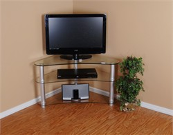 Tier One Designs 37 Inch and Below Clear Glass TV Stand - RTA T1D-100