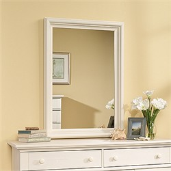 Harbor View Mirror in Antiqued White - Sauder 158010