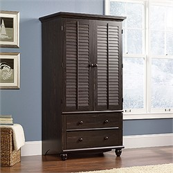 Harbor View Armoire in Antiqued Paint - Sauder 401322
