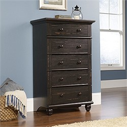 Harbor View 5-Drawer Chest in Antiqued Paint - Sauder 401323