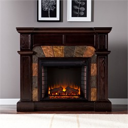 Cartwright Convertible Electric Fireplace in Classic Espresso - Southern Enterprises FE9287