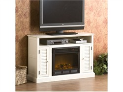 Antebellum Media Electric Fireplace in Antique White - Southern Enterprises FE9306
